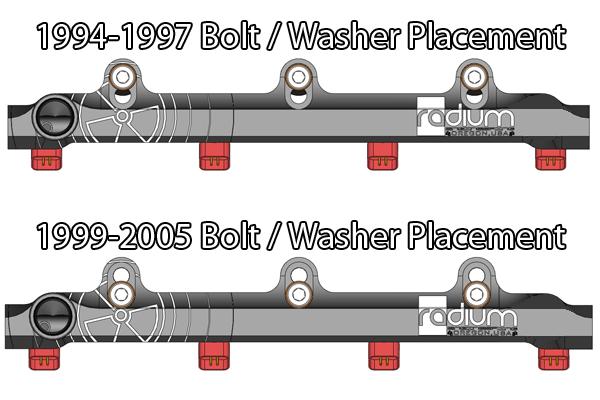 Fuel Injector Rail-Base RADIUM ENGINEERING 20-0369 fits 99-00 Mazda Miata